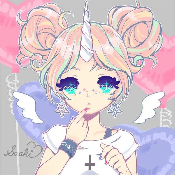 Pin By Athina Godsey On Licorne Anime Art Girl Kawaii Art Cute Kawaii Drawings