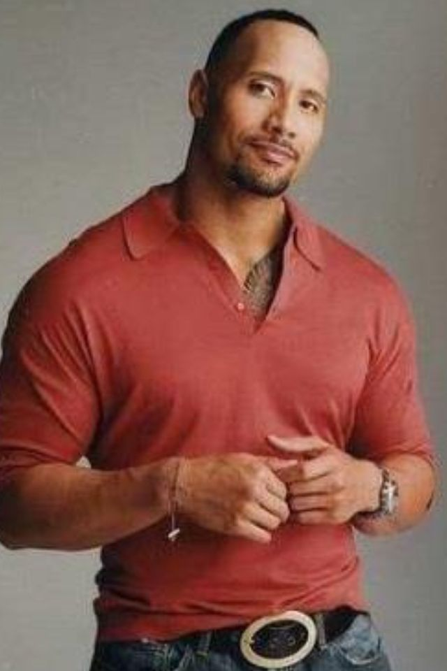 Dwayne Johnson. I mean, really? He appears to be flawless.