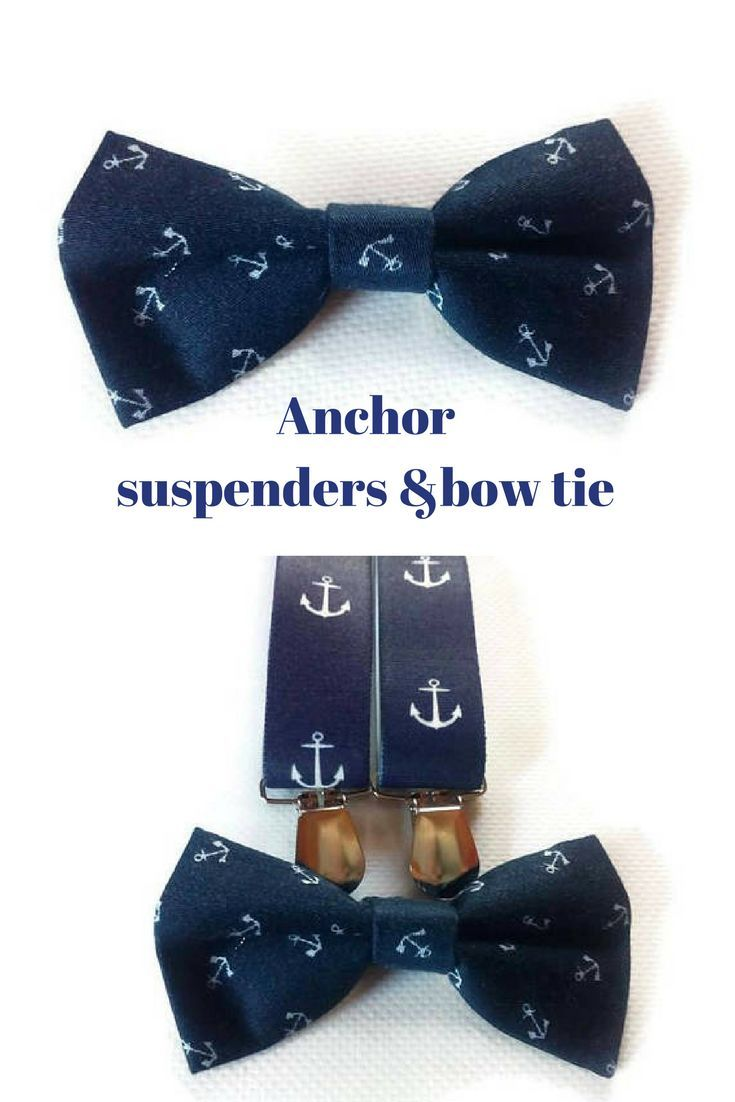 Anchor bow tie Anchor suspenders Infant bow tie Toddler bow tie Infant suspenders Infant bow tie Ring bearer bow tie Ring bearer suspenders #ringbearer #infant #toddler #nautical #wedding #anchor