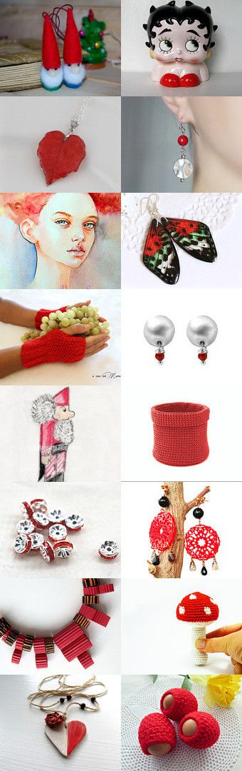 RED MANIA by Ladyknitty on Etsy--Pinned+with+TreasuryPin.com