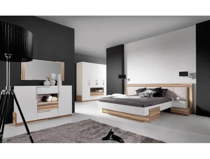 Schlafzimmer Komplett Set A Andenne 5 Teilig Weiss Walnuss