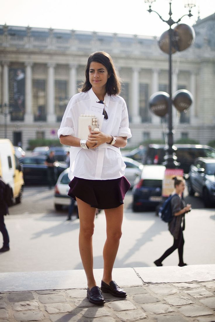skirt & shirt. Leandra in Paris. #LeandraMedine #ManRepeller