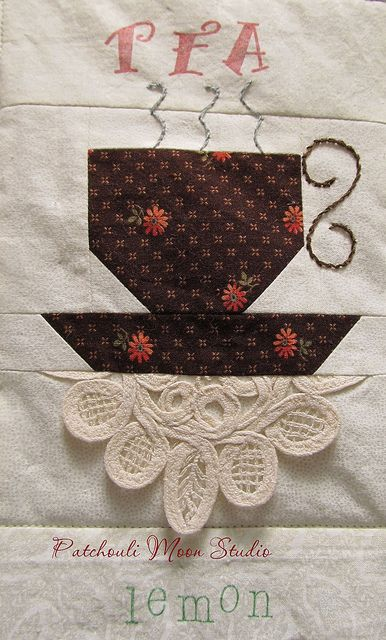 Teacup Or Coffee Quilt By Patchouli Moon Studio Via