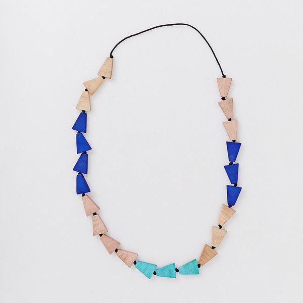 Love Triangle Necklace - Aqua   Have you met Miss Jones