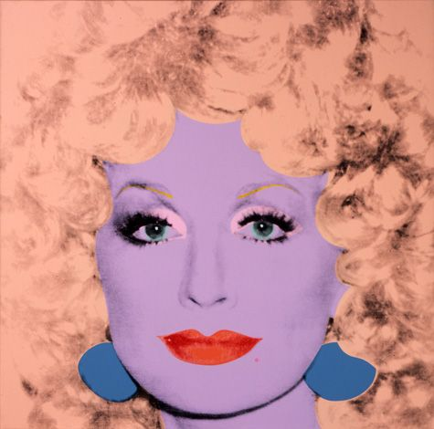 Dolly Parton's character is perhaps one of the only others that can rival the character Andy Warhol created for himself. Warhol reveals the essence of Dolly in a series of photographs, and silkscreen portraits in which the singer is exposed in either a dreamy and soft Polaroid, or a bright cotton-candy pop color scheme that highlights her big hair, big, jewelry, and big personality that was adored at the time. Andy Warhol Dolly Parton print available for sale through Robin Rile Fine Art.