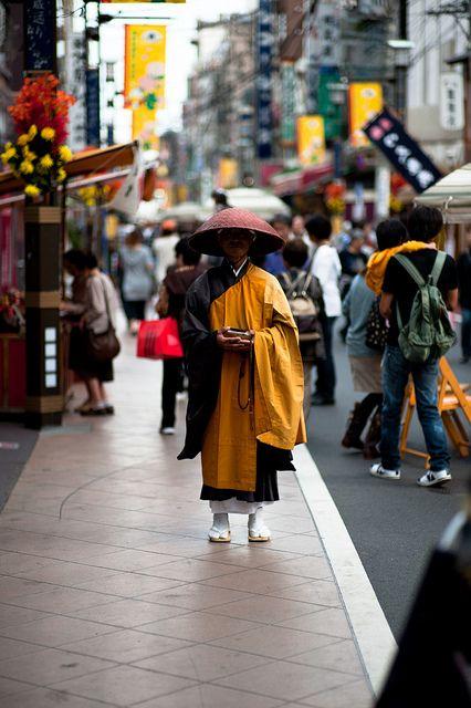 Street monk in Tokyo, Japan