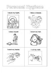 English worksheet Personal Hygiene Places to Visit
