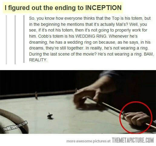 This makes me feel so much better about the ending. My brain still struggles to understand parts of this movie though.