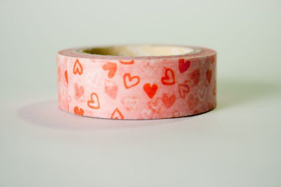 Washi Tape Pink & Red Hearts by HexagonInc on Etsy -- SOLD OUT (Sorry!)