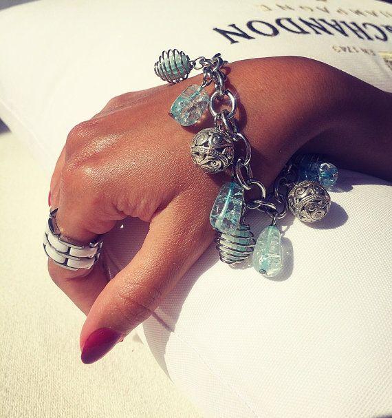 Sparkling topaz bracelet от Monamibijoux на Etsy