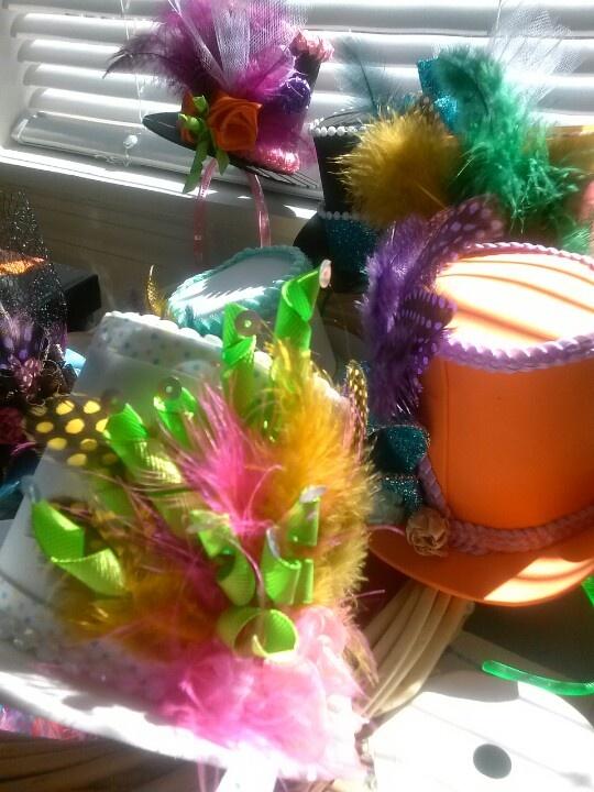 Mad Hatter birthday hats (headbands)