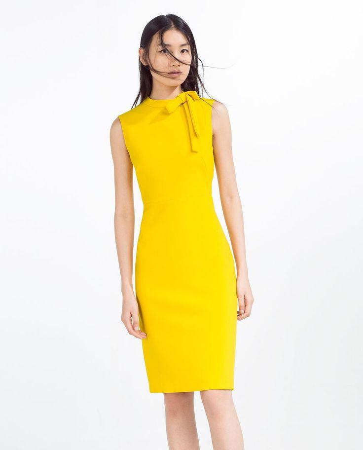 Vestito giallo zara 2016 dresses