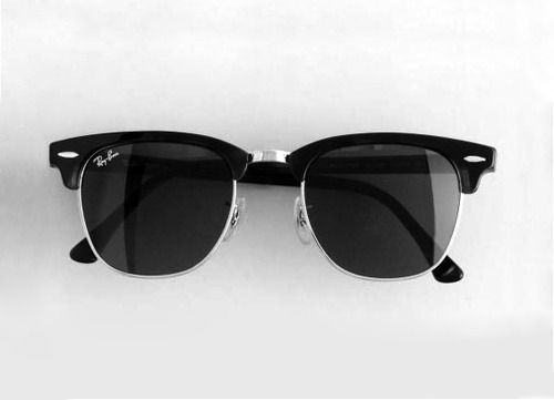 horn rimmed ray-bans