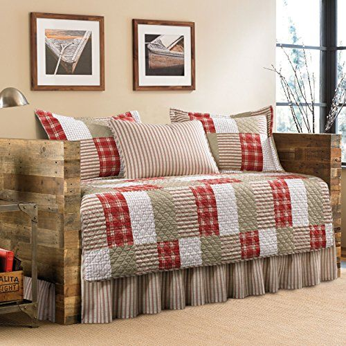 Eddie Bauer 5-Piece Quilted Daybed Set, Twin, Camino Island >>> Click image for more details.
