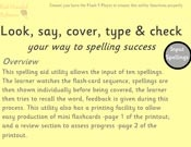Look, say, cover, type and check