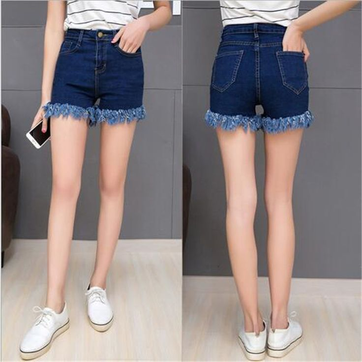 $8.09 (Buy here: https://alitems.com/g/1e8d114494ebda23ff8b16525dc3e8/?i=5&ulp=https%3A%2F%2Fwww.aliexpress.com%2Fitem%2FPlus-Size-2016-New-Fashion-Leisure-Summer-Retro-Fringed-High-Waist-Slim-Denim-Shorts-Sexy-Stretch%2F32682082562.html ) Plus Size 2016 New Fashion Leisure Summer Retro Fringed High Waist Slim Denim Shorts Sexy Stretch Womens Shorts A0870 for just $8.09