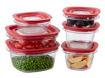 10. Rubbermaid 12 Piece FG7J11TRCHIL Food Storage Container