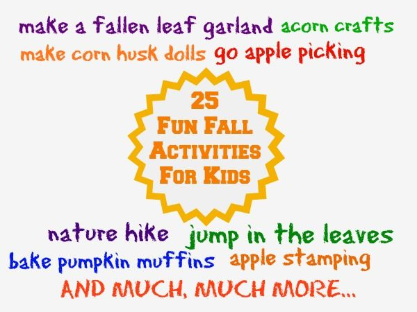 25 Fun Fall Activities for Kids - Kitchen Counter Chronicles