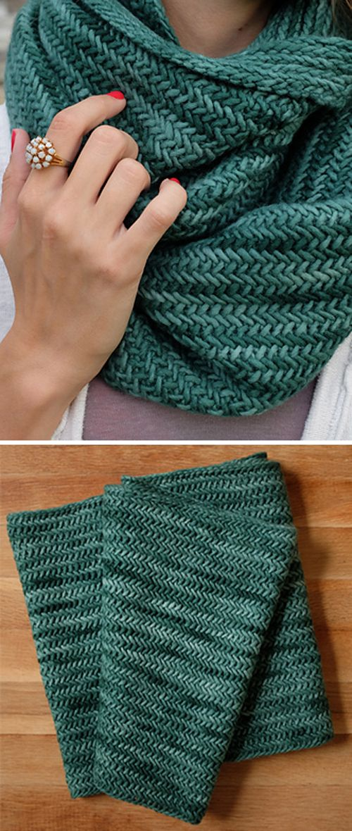 Big Herringbone Cowl – Free Knitting Pattern (Beautiful Skills – Crochet Knitting Quilting)