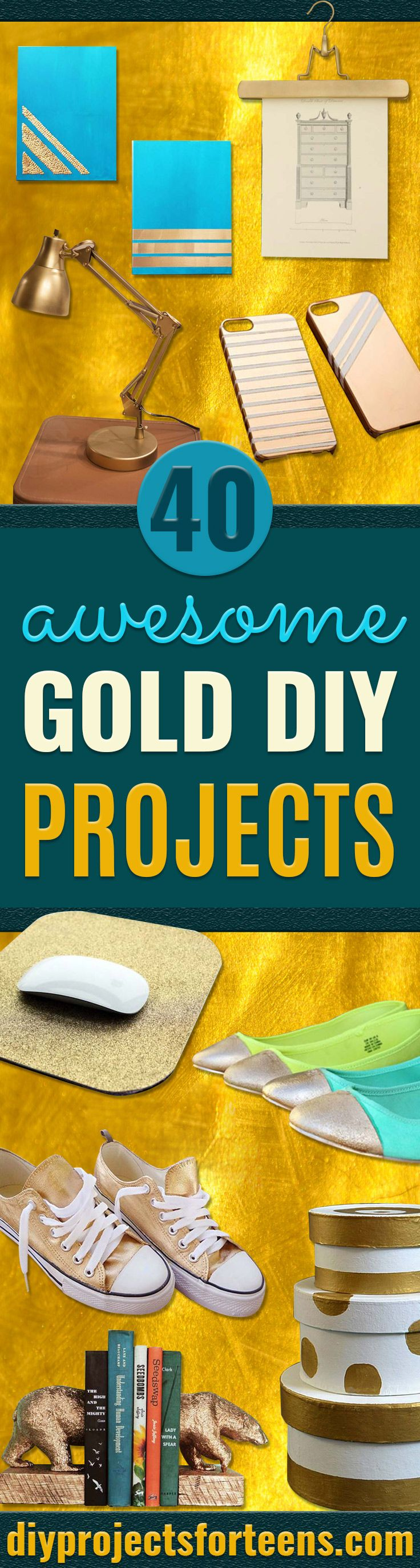 162 best diy projects for teens images on pinterest teen crafts 40 brilliantly gold diy projects