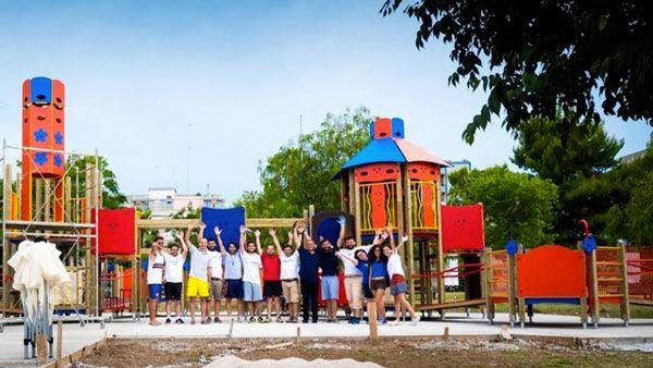 Inaugurazione ''Bimbiland'', parco giochi inclusivo per tutti i bambini, domenica 10 luglio 2016 a Triggiano (Ba)