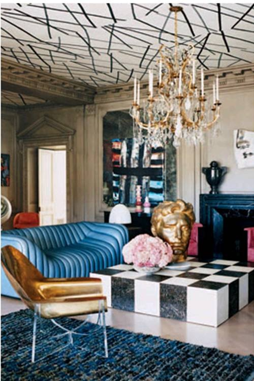 Kelly Wearstler's Hollywood mansion. That couch is so interesting!!