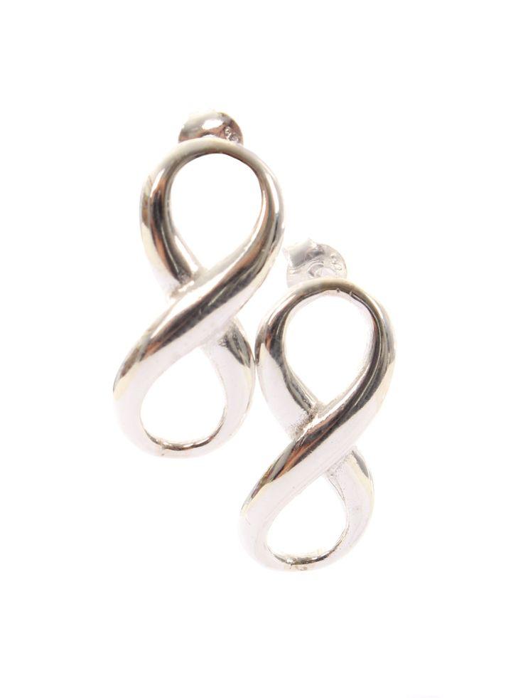 Sterling Silver Earrings/Infinity Earrings/Solid Silver/Drop Stud Earrings by SilverzoneStore on Etsy