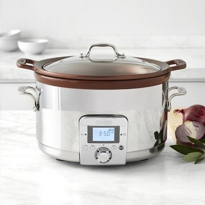 All-Clad Gourmet Slow Cooker with All-in-One Browning, 5-Qt. #williamssonoma