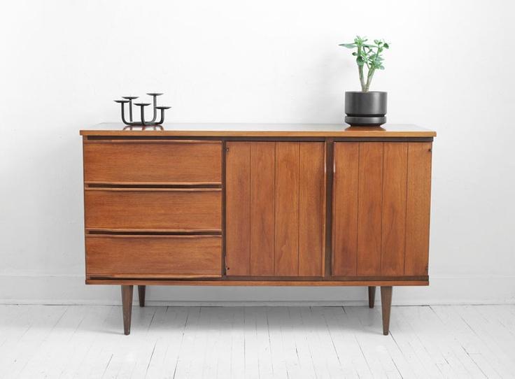 Vintage Walnut Credenza - Mid Century Modern