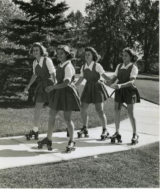 Roller Skating, 1950s - simple dreams...
