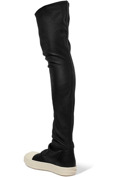 Rick Owens - Stretch-leather Over-the-knee Boots - Black - IT40