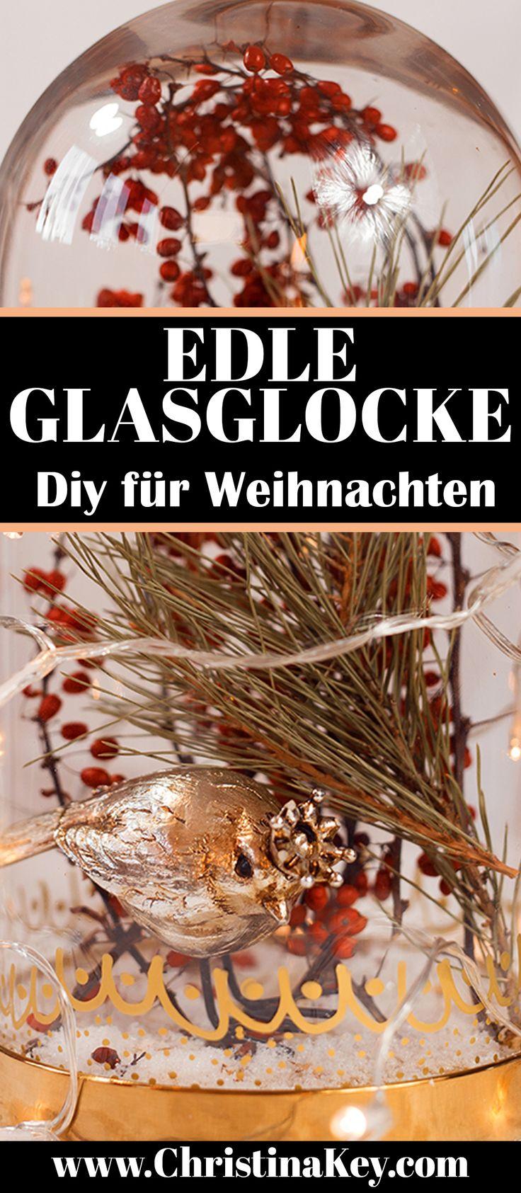 Edle Glasglocke – Dekoration für Weihnachten
