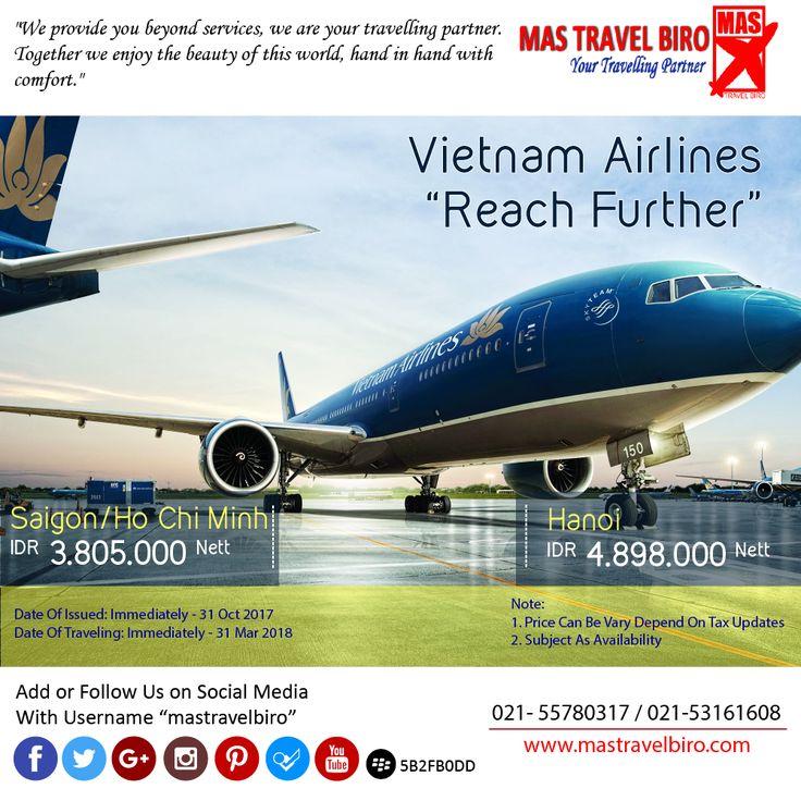 Terbang ke Saigon Hanya Rp 3.805.000/Orang Nett PP, Book Now ! ;) #mastravelbiro #promo #tiket #vietnam