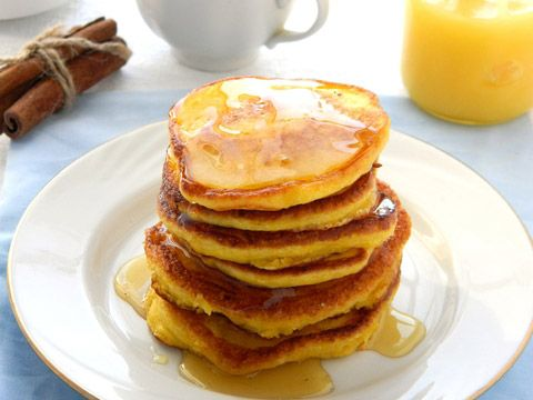 This recipe for Pumpkin Pie Pancakes is very light, not overly spiced, and so easy.