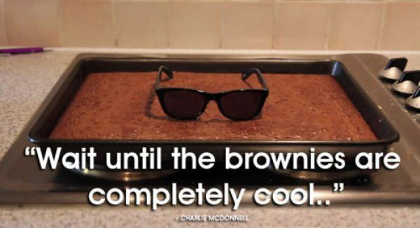 Wait Until the Brownies are Completely Cool. Throw a leather jacket on them, and they should be ready.. cool, brownies, dessert, puns: Hipster, Bows Ties, Follow Direction, Funny Pictures, Giggl, Humor, Leather Jackets, Things, Brownies