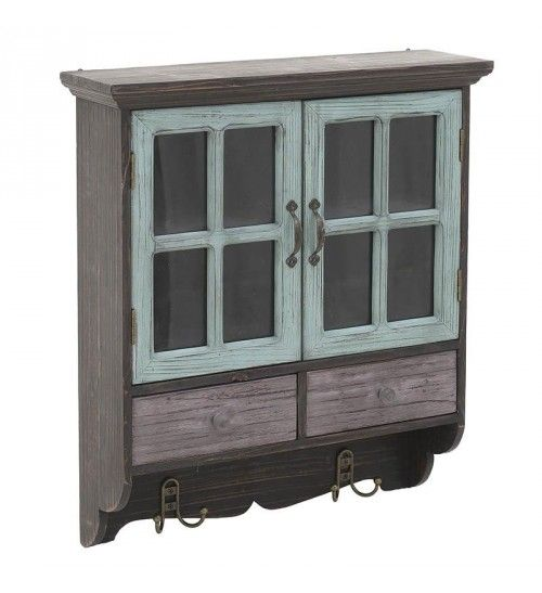WOODEN WALL CABINET IN BROWN_MINT 46X15X56