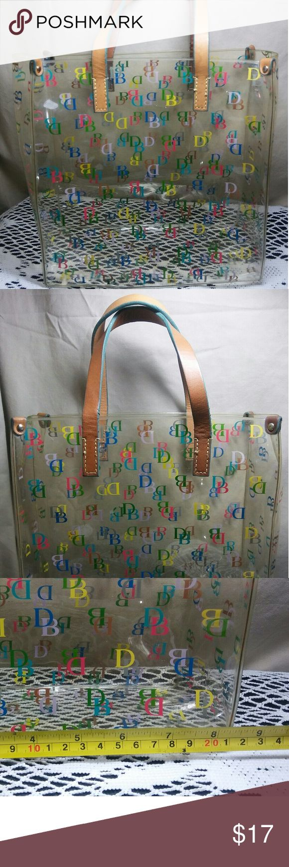 Dooney and Bourke Small lunch bag tote Small tote bag with tan leather Strap handle Dooney & Bourke Bags Totes