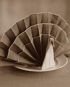 How-To Turkey Napkin Fold