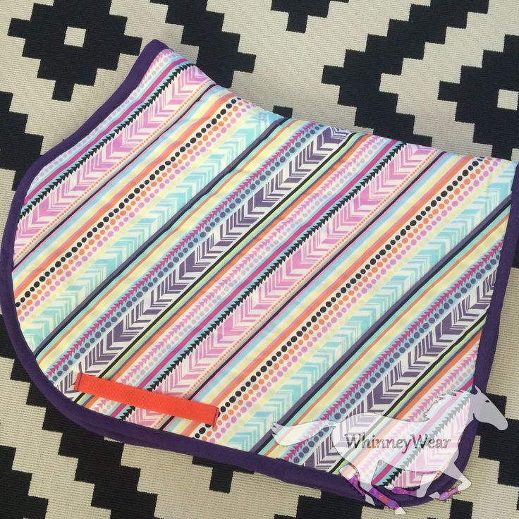 Aztec feather english all purpose saddle pad by WhinneyWear  www.whinneywear.com