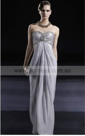 Sleeveless Zipper Sweetheart Floor-length Chiffon Formal Dresses dt00210--Hodress