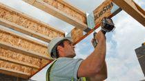 Laminated veneer lumber beam / I