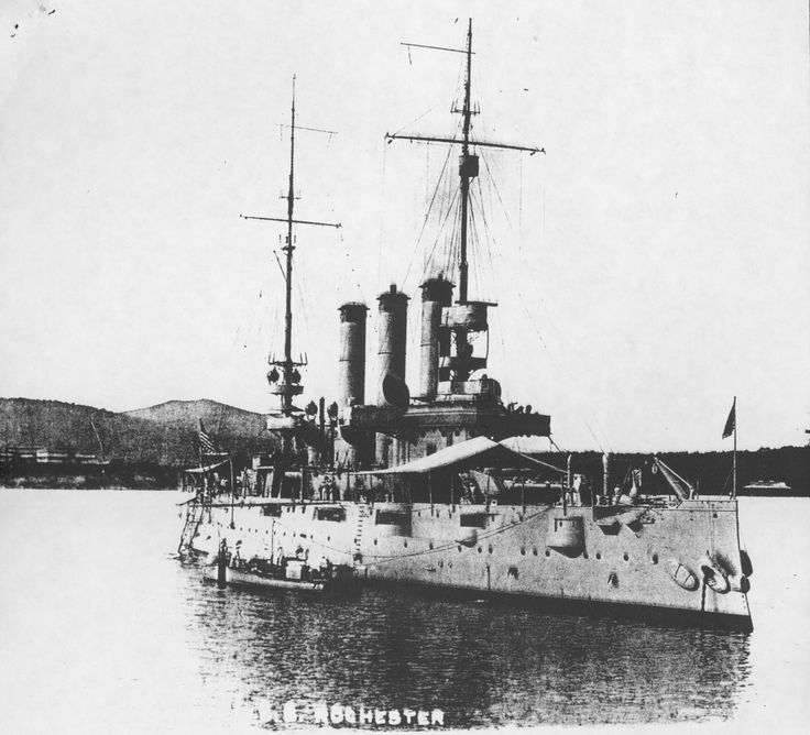 The USS Rochester lays on the bottom of Subic Bay.
