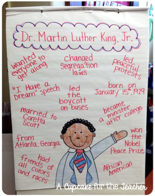 A great list of crafts and activities for the classroom on Martin Luther King Jr. Day!