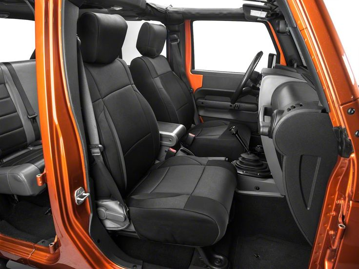 Smittybilt Neoprene Seat Cover Set Front/Rear - Black (07-17 Wrangler JK)