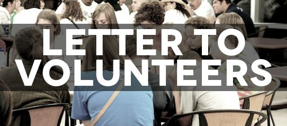 A Letter to Adult Volunteers
