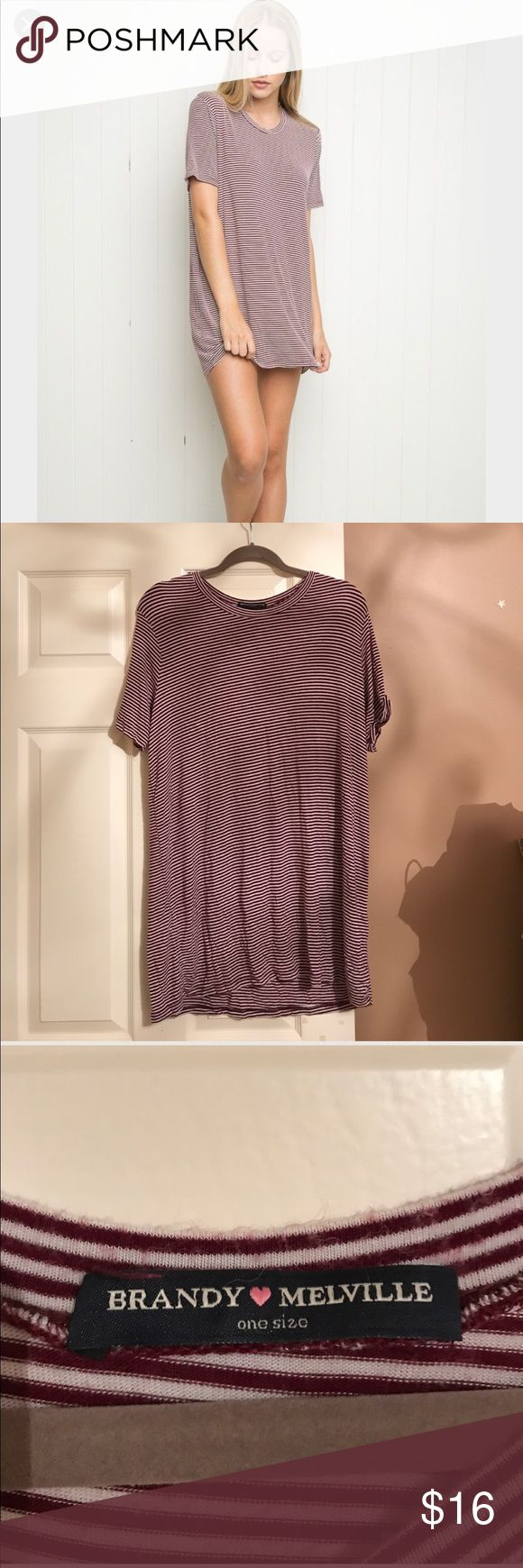 brandy melville stripped tshirt dress brandy melville stripped tshirt dress Brandy Melville Dresses
