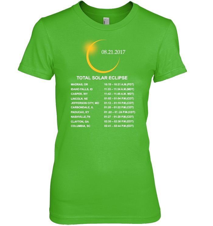 The Unique Total Solar Eclipse 2017 Timeline T-shirt and Hoodie