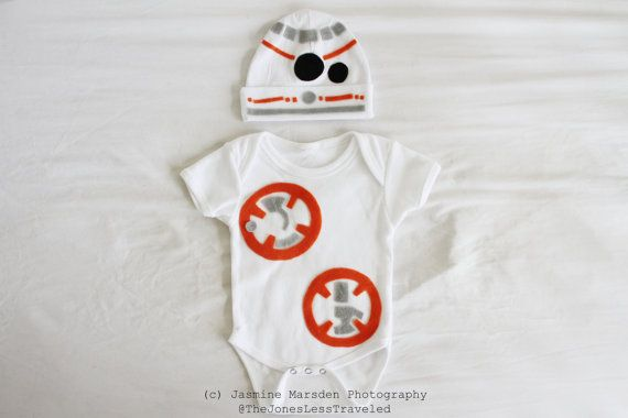 BB8 Baby/Toddler Costume Onesie Newborn to 18 months