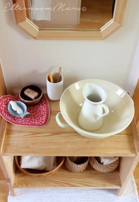 Montessori feat Ikea - im Badezimmer