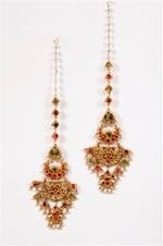 - A pair of traditional earpendants
